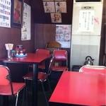 金盛軒 - 古い店内。歴史を感じます。