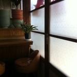 金盛軒 - 曇りガラスも懐かしい。