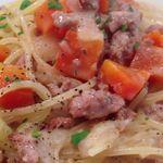 ヨシズハイ - パスタ 豚粗びき肉と野菜のクリームソース