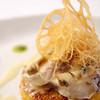ザ・ポートサイドミュゼ - 料理写真:アワビのソテー カリッと薄く焼き上げたリゾットと野菜のフリットを添えて
