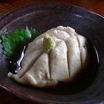 そば処 和た里 - 木の葉型の「そばがき」600円  h24.12.6撮影
