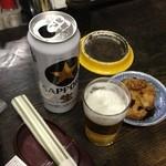 大島屋酒店 - ハンペイ肴にロング缶