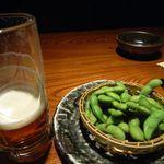鳥元 - 緋富士と茶豆