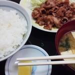 食堂三番 - 生姜焼き定食¥800