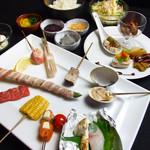彩華 - 【彩華コース】 丁寧に仕込みをした前菜に、旬の素材を一工夫加えた串揚げとご飯物までついた当店自慢のコースです