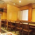 鰻 木屋 - テーブル席