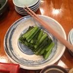 16226882 - テーブルの上にある野沢菜は食べ放題。