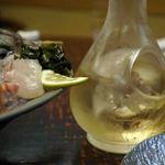 日本料理てら岡 - 2杯ビール飲んだ後は、浦霞。この時は刺し盛りで頂きました。