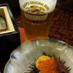 日本料理てら岡 - ビールお替り