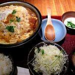 かつ工房 和幸 - ロースかつ鍋膳1450円。(2012.12)