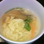 16233737 - 桂蘭ランチ(玉子スープ)