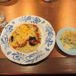 トラットリア さと - メランザーネとコールスローサラダ