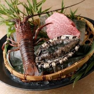 いせもん本店 - 料理写真:「美しき国」伊勢志摩からお届け『伊勢海老、アワビ、松坂牛』