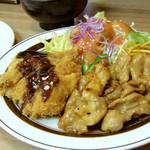 洋食の店 ブーン - Aランチ(チキンカツ&豚ロース焼肉)