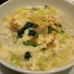 16243363 - 焼肉韓定食(ハンジョンシク)餃子入り和牛ダシの韓国スープ