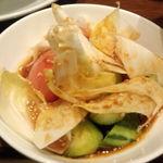 16243367 - 焼肉韓定食(ハンジョンシク)トマトと胡瓜の韓国サラダ