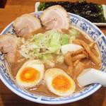 麺工房 武 - 味玉ラーメン(750円)+韓国のり(10枚100円)