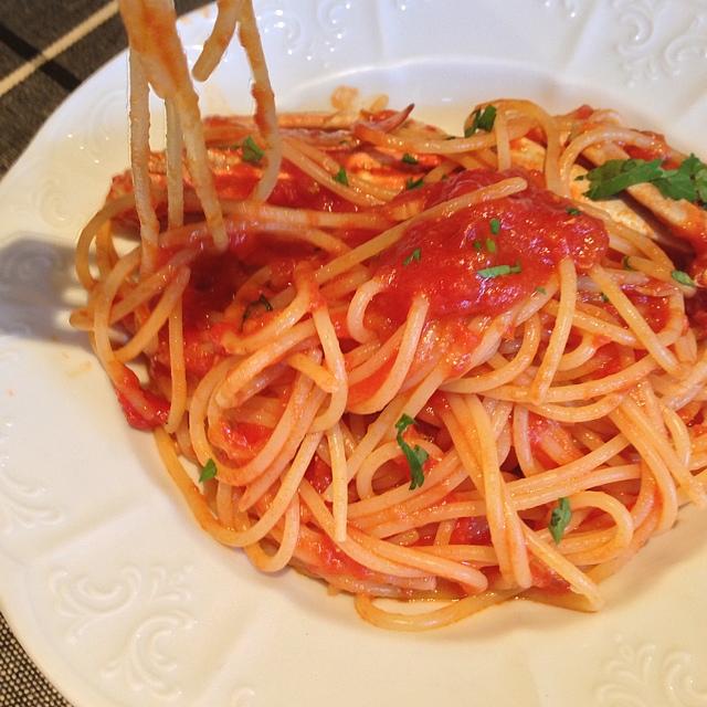 イルフォルネッロ - 渡り蟹のトマトソーススパゲティ