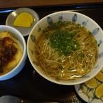 16248335 - 温かぼすそば&ミニ天丼