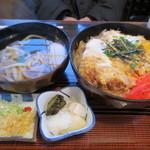 天ぷら桂 - カツどんと半うどん(750円)