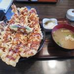 天ぷら桂 - えび穴子丼(850円)