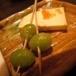 かぶらや - 銀杏、クリームチーズの醤油漬