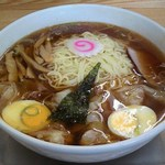 大勝軒 - '12/12/08 玉子入りワンタン麺の大盛り(1,100円)
