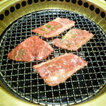 焼肉 おくう - 肉は少し薄め・・・