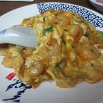 味香園 - 海老と卵の飯(+ワンタン) 900円