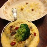 トマト - ビーフタンカレー+季節の野菜+チーズ