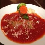 カフェバーンズ - ハンバーグ トマトソース チーズ