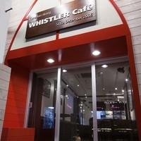 ウィスラーカフェ - 赤と白のモチーフがテーマカラーです!