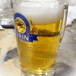 東京エガオ食堂 - ビールは発泡酒(・。・;