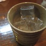 ごくう - ごくう特選焼酎「オイもいも」グラス:350円