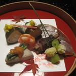 熱海荘 - 料理写真:秋らしい前菜