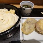宮武讃岐製麺所 - ざるうどん+芋天+なす天