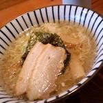 庄内旬味 悦波 - 塩ラーメン(細麺)