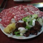 もっこす - 料理写真:馬刺しと馬レバー。