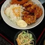 旬味串喝 やまや - 日替わりランチ650円、サラダ・ライスおかわりOK