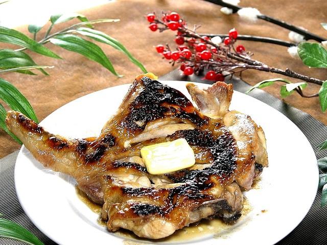 「鳥扇 鶏もものバター焼き」の画像検索結果