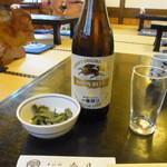 春日そば - 料理写真:ビンビール 525円