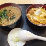 西村 うどん店 - ランチのかつ丼セット¥500