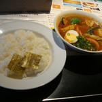 カレー食堂 心 - 季節野菜のスープカレー4辛並盛