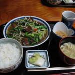 お食事処 山どり - レバニラ定食