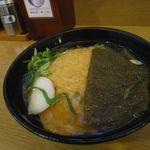 麺家兵庫 - 昆布そば+きつねトッピング