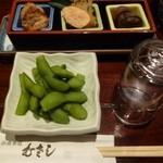 むさし - 2012.12 付き出し三種と枝豆