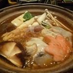 むさし - 2012.12 鍋は牡蠣入りの寄せ鍋でした♪