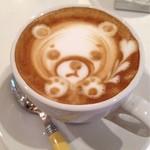 ROASTERS CAFE MANO+MANO - クマさんのラテアート♡