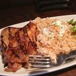 なかめくん - 鶏のグリルご飯 鶏の油が玄米にからんでいい感じ!