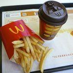 マクドナルド - ポテトとコーヒーで250円・2012/12